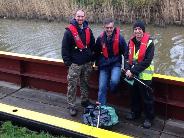 "Canal workboat ""The Wanderer"" helps with litter pick"