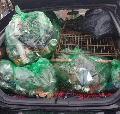 Car full of litter